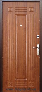 Дверь Входная Готовая С-1 дуб золотой внутренняя сторона фото magnat.kh.ua