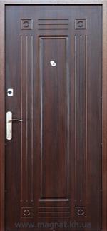 Дверь Входная Готовая С-1 орех темный внутренняя сторона фото magnat.kh.ua